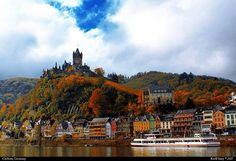"""Cochem Castle. Today the castle is still well-equipped with Renaissance and Baroque furniture, which was carefully collected by the Ravené family. Since 1978 the castle has been owned by the town of Cochem and is run by """"Reichsburg Cochem Ltd."""" Cochem Castle, situated on an outstanding hill more than 100 metres above the river Moselle, is a popular tourist attraction."""