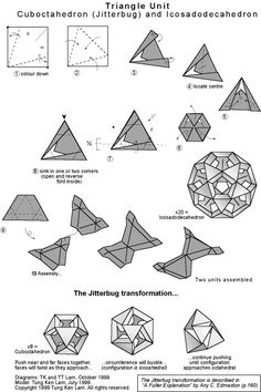 wow! Modular origami jitterbug Transforming polyhedra Got to try it!