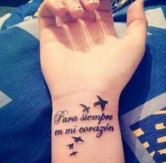 New Tattoo Quotes Memorial Sad Ideas Dove Tattoos, Flower Tattoos, Body Art Tattoos, New Tattoos, Tattoos For Guys, Tatoos, Small Quote Tattoos, Tattoo Quotes, Tattoo Small