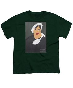 Patrick Francis Hunter Green Designer Youth T-Shirt featuring the painting Portrait Of A Woman With White Cap 2015 - After Vincent Van Gogh by Patrick Francis