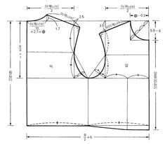 3번째 이미지 Coat Patterns, Dress Sewing Patterns, Clothing Patterns, Sewing Clothes, Diy Clothes, Clothes For Women, African Blouses, Bikini Pattern, Pattern Drafting