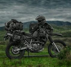Blacked out klr adventure: As if the KLR wasn't cool enough already.