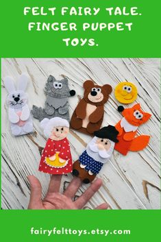 Woodland animals for kids. Game set for children with finger figures. Christmas Tree With Gifts, Christmas Toys, Forest Animals, Woodland Animals, Felt Finger Puppets, Puppet Toys, Felt Fairy, Travel Toys, Creative Workshop