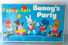 Your place to buy and sell all things handmade Fuzzy Felt, Felt Bunny, 1980s Childhood, Childhood Memories, Toys Uk, Kids Toys, Bunny Party, Party Scene, Christening Gifts