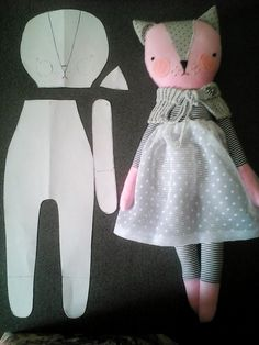 Top Tips, Tricks, And Methods For The Perfect fabric flowers PDF sewing pattern for Blank Cat Doll for crafting 37 Kitty Dolls created by Lucky Juju on Etsy Link to 5 Adorable Etsy Animal Softie Friends. How To Make A Rag Doll Rag Dol Just needs a smiley Fabric Toys, Fabric Crafts, Sewing Crafts, Sewing Projects, Doll Sewing Patterns, Sewing Dolls, Handmade Dolls Patterns, Fabric Doll Pattern, Simple Sewing Patterns