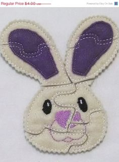 EASTER SALE Bunny Felt Puzzle game Perfect for  Easter party favors, school treats  busy bags or quiet books