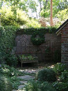 like the fieldstone pathway ... hate the flowers in a bedframe