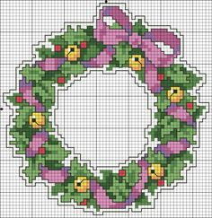 8 Christmas Cross Stitch Patterns – Tip Junkie Xmas Cross Stitch, Cross Stitch Cards, Counted Cross Stitch Patterns, Cross Stitch Designs, Cross Stitching, Cross Stitch Embroidery, Christmas Charts, Christmas Cross, Simple Christmas