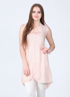 Femella Solid Women's Tunic... Front buttoned wear... good for nursing mothers.