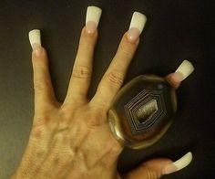 Dark Chocolate Brown UNISEX OVER SIZED Gemstone Statement Ring GAY Rocker Chic