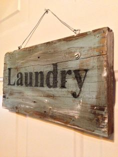 Distressed Laundry Sign Laundry Sign Vertical On Reclaimed Wood 32Fleamarketsunday