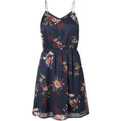 FLOWER PRINTED DRESS - Vero Moda ❤ liked on Polyvore featuring dresses, vestidos, flower dress, vero moda, vero moda dress and blossoms dresses