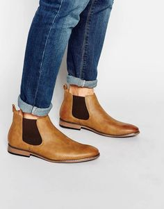 Discover the latest range of men's boots with ASOS. Explore the range of styles such as Chelsea boots, work boots or desert boots. Available today at ASOS. Buy Shoes, Men's Shoes, Shoe Boots, Mens Fashion Casual Shoes, Casual Boots, Shoe Wardrobe, Fall Wardrobe, Brown Suede Chelsea Boots, Boots