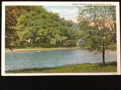 Early 1900s Rising Park, Lancaster, OH postcard