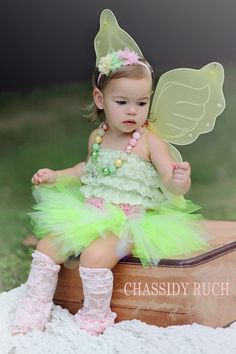 "Fairy Halloween Costume - ""Tutu Cute"" Garden Fairy - Tinkerbell Inspired - Costume - Girl Toddler Baby Infant Newborn Halloween Costume on Etsy, $58.00"
