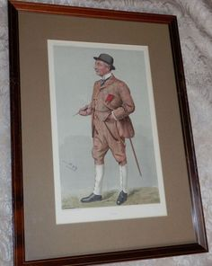 "Vintage Framed VANITY FAIR PRINT ""Peter""  MEN OF THE DAY No 791 P WALKER Vintage Art Prints, Vintage Frames, Men's Day, Vanity Fair, Ebay, Vanity Fair Magazine"
