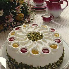 Himbeer-Pfirsich-Sahne-Torte Rezept | LECKER