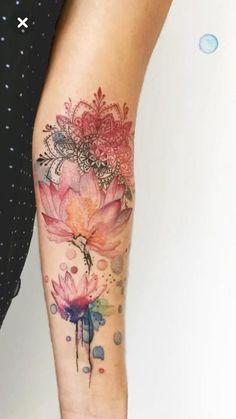 Boho Tattoos, Life Tattoos, Tatoos, Blue Tattoo, Calf Tattoo, Stomach Tattoos Women, Tattoos For Women, Floral Arm Tattoo, Arm Sleeve Tattoos