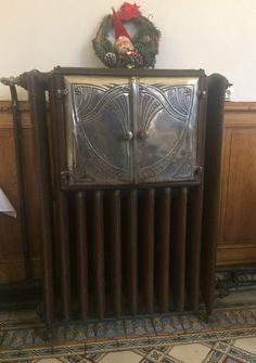 Art nouveau cast iron radiator and plate warmer combined. St-Quentin, France.