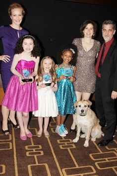 ANNIE celebrates their win for Favorite Musical Revival at the 2013 Broadway.com Audience Choice Awards.