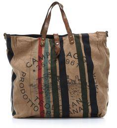 wardow.com - #campomaggi, Lavata Righe Shopper beige 40 cm