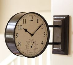 Side mounted Station Clock from Pottery Barn $100. would be awesome with our high ceilings!