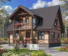 Каркасный дом 103.94 кв. метра Home Projects, Cabin, House Styles, Home Decor, Cabins, Cottage, Interior Design, Home Interior Design, Wooden Houses