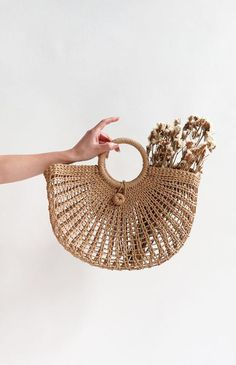 French Inspired Straw Bag / Vintage Style Straw Bag / Manosque Bag