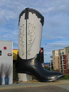 """World's Largest Cowboy Boot"" -- Edmonton, Albert"