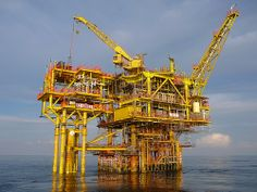 Wellhead Drilling Platform & Annex Oil Rig, Rigs, Sailing Ships, Oil Platform, Ocean, Drilling Rig, Oil Industry, Oil And Gas, North Sea