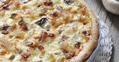 Recette de Quiche au poulet rôti et champignons à la béchamel légère. Facile et rapide à réaliser, goûteuse et diététique.