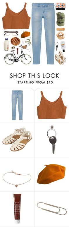 """""""it was always you"""" by dr0ps-of-jup1ter ❤ liked on Polyvore featuring Uniqlo, Topshop, Maison Margiela, Barlow, Jacquie Aiche, Burberry, Fresh and Carl Auböck"""