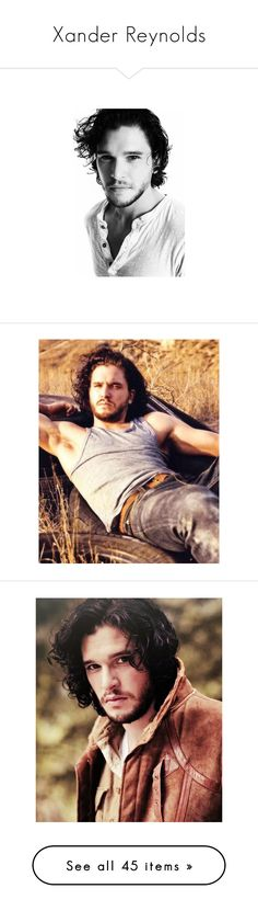 """""""Xander Reynolds"""" by ray-fangirl ❤ liked on Polyvore featuring kit harington, men, people, kit, game of thrones, kit harrington, men's fashion, men's clothing, men's shirts and men's tank tops"""