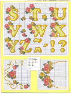 logopedd.gallery.ru / Ponto Cruz e Croche No.13 / Cross Stitch and Croche No.13 / Alphabet