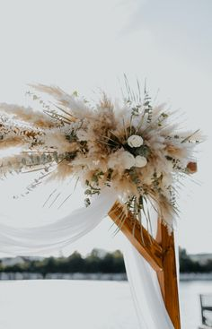 #hochzeitsbogen #pampasgras #strandhochzeit Wedding Flowers, Wedding Day, Wedding Beach, Dream Wedding, Beach Ceremony, Weeding, Arch, Wedding Decorations, Plants
