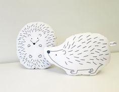 hedgehog pillow hedgehog cushion plush hedgehog by ALittleWorld