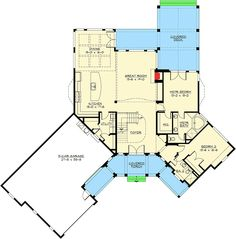 Dramatic Craftsman House Plan - 23252JD floor plan - Main Level