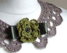Romantic collar FASHION Accessories Handmade crocheted by Zojanka, $19.90