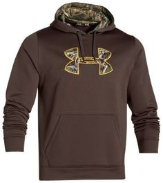Under Armour UA Storm Caliber Hoodie for Men - Maverick Brown/Realtree Max 5 - 2XL