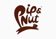 Pip&Nut logo b&b studios in London. Squirrel illustration