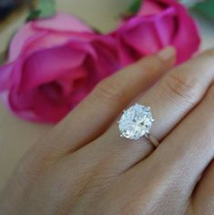 Get a Bachelorette-Inspired Oval Shaped Engagement Ring at Any Budget:  We love the simplicity of this gorgeous oval solitaire ring, and we also love that it is only $89.99! This ring can also be made in 14k white or yellow gold for $299.99