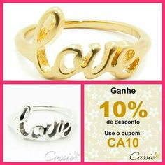 """Anel Love folheado a ouro ou folheado a prata.   ☆ ¸.•°*""""˜˜""""*°•.¸☆  ☆¸.•°*""""˜˜""""*°•.¸☆  ⏩ USE O CUPOM DE DESCONTO CA10 E GANHE 10% DE DESCONTO. ⏪ ☆ ¸.•°*""""˜˜""""*°•.¸☆  ☆¸.•°*""""˜˜""""*°•.¸☆  #Cassie #semijoias #acessórios #folheado #folheadoaouro #dourado #zirconias #instajoias #instasemijoias #cupomdedesconto #desconto #Anellove #anel #anelfolheado"""