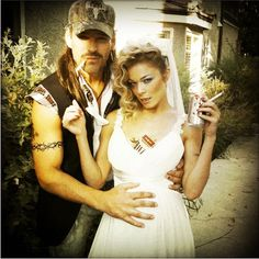 "redneck costume ideas for couples | ... » Eddie Cibrian and LeAnn Rimes go ""redneck"" for Halloween"