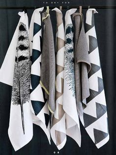 Textiles trends 2019 is the new trend of the year, so let's be inspired by these magnificent elements. Textiles, Home Design, Broste Copenhagen, Kitchen Towels, Kitchen Linens, Bathroom Towels, Home Interior, Soft Furnishings, Home Textile