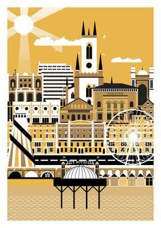 Brighton - City Art Prints by Horse Studio {bloodandthunder.bigcartel.com}