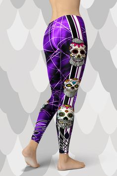 Handmade and sustainable leggings from GearBaron are made to last. The buttery-soft, moisture-wicking and fast-drying Smart Fabric™ supports any move and. Skull Leggings, Gym Leggings, Natural Shapes, Save Water, Sugar Skull, Yoga Fitness, Hug, Looks Great, Capri Pants