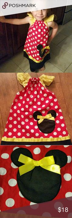 Minnie Mouse Pillowcase Style Boutique Dress In Excellent Used Condition Like New  Perfect for any Minnie Mouse fan  XXS approximately a 2T  Price reflects general wear  (Consider bundling to get more value out of the cost of Shipping and feel free to make offers on bundles)  Smokefree Petfree Clean Home Thank you for visiting my closet!! Dresses