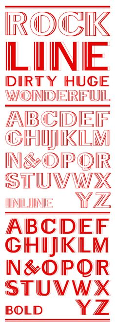 Rockline typeface on Behance