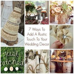 7 Ways To Add A Rustic Touch To Your Wedding Decor