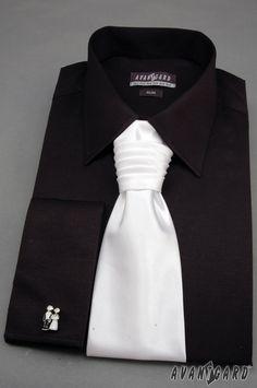 Pánská košile se saténovou regatou a manžetovými knoflíčky AVANTGARD ... 082de5b52b